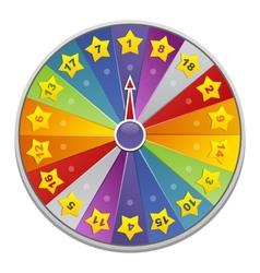 casino wheel of fortune vector image vector image