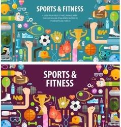 fitness logo design template sportsman or vector image vector image
