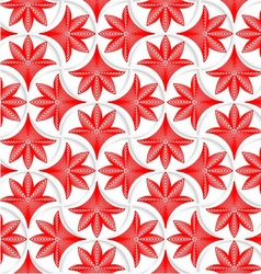 3D white pin will grid with striped floral leaves vector image