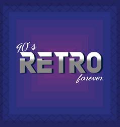 90s retro card design vector image