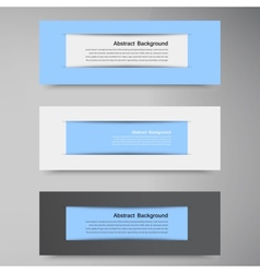 Abstract background Banner blue and label vector