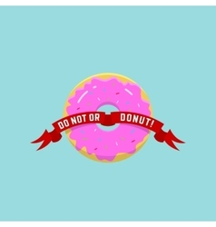Abstract Donut or Logo in Flat vector
