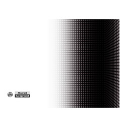 Abstract of side halftone black dot of right vector
