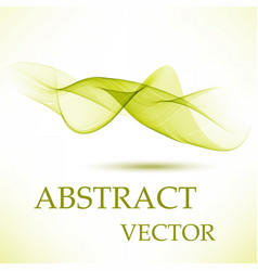abstract smooth green flow background vector image