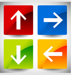 Arrow icons in 4 directions up down left right vector