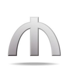Azerbaijani manat currency symbol vector