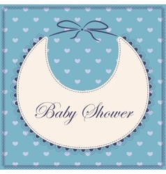 Baby shower with bib blue vector