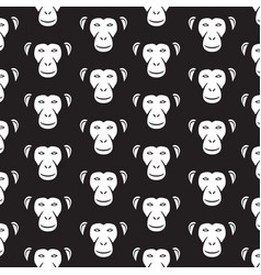 background pattern with monkey faces vector image