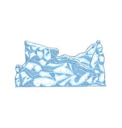 blue iceberg icon isolated on white vector image