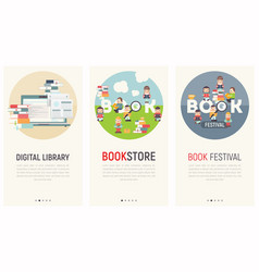 bookstore mobile app vector image