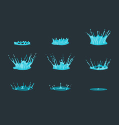 cartoon dripping water effect set vector image