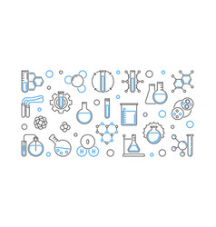 chemistry education concept horizontal vector image