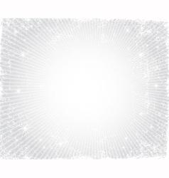 Christmas grunge silver frame vector