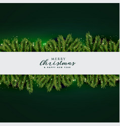 Christmas tree leaves background design vector