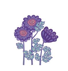 Chrysanthemum flower card template design vector