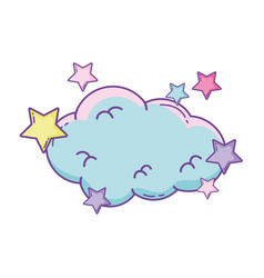 Cloud with stars vector