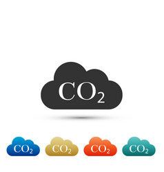Co2 emissions in cloud icon isolated vector