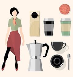Coffee mock up vector
