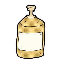 Comic cartoon old squirt bottle vector