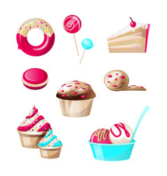 confectionery and sweets candies set isolated vector image