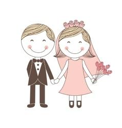 Couple wedding icon vector