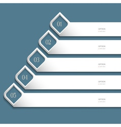 Creative white Design template vector image vector image