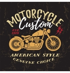 Custom Motorcycle Print vector image