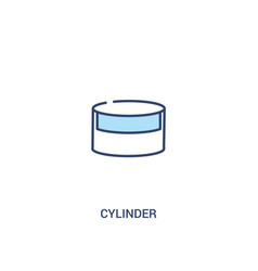 Cylinder concept 2 colored icon simple line vector
