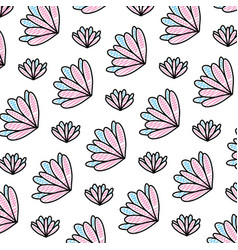 Doodle beauty flower with exotic petals background vector