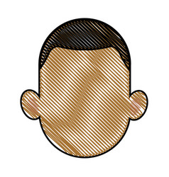drawing head man faceless people avatar vector image