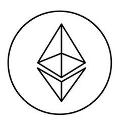 Ethereum icon for internet money vector