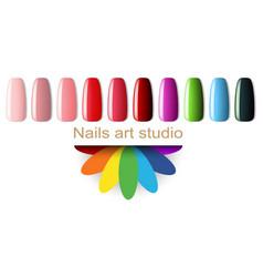 Fashion color manicure vector