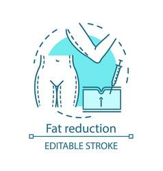 Fat reduction procedure concept icon vector