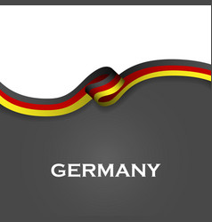 Germany sport style flag ribbon classic style vector