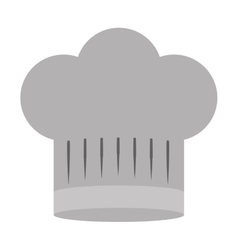 Gray scale silhouette of chefs hat wide vector
