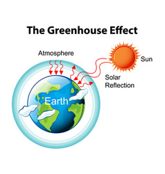 Greenhouse effect diagram vector
