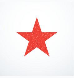 Grunge red star icon vector