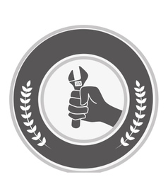 hand human with wrench labor day vector image