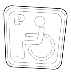 Handicap parking or wheelchair parking icon vector