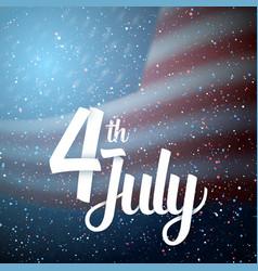 Happy 4th july america flag vector