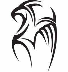 hawk tattoo vector image vector image