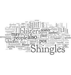 Home remedies for shingles vector