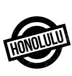 Honolulu rubber stamp vector