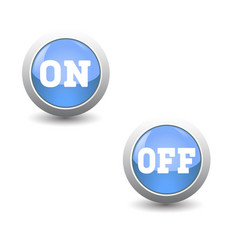 Icon seton and off button for control panel vector