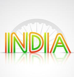 Indian flag text vector