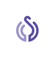 initial letter s logo vector image