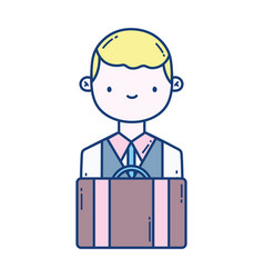 Isolated bag and bellboy design vector