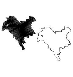 Kiev city map vector