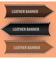 Leather banners eps10 vector
