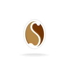 Letter S coffee logo template vector image